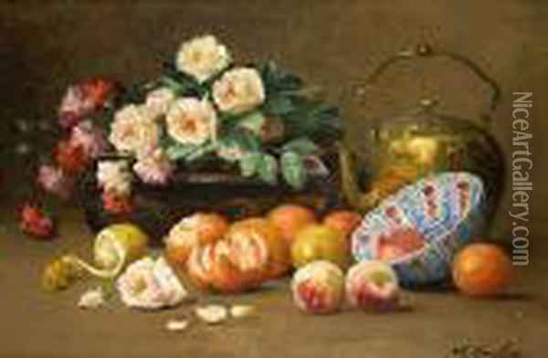 Nature Morte Aux Fruits Oil Painting - Max Carlier