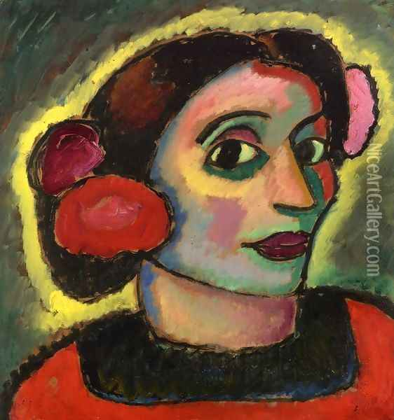 Spanish Woman Oil Painting - Alexei Jawlensky