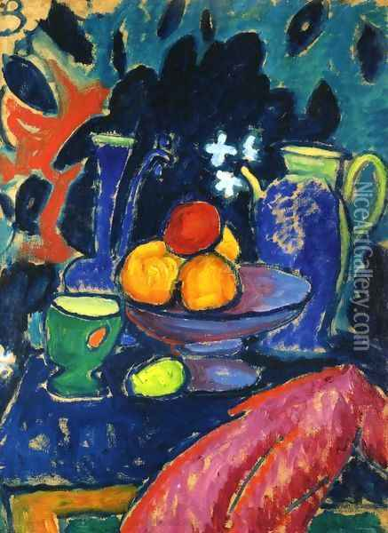Still Life with Jug Oil Painting - Alexei Jawlensky