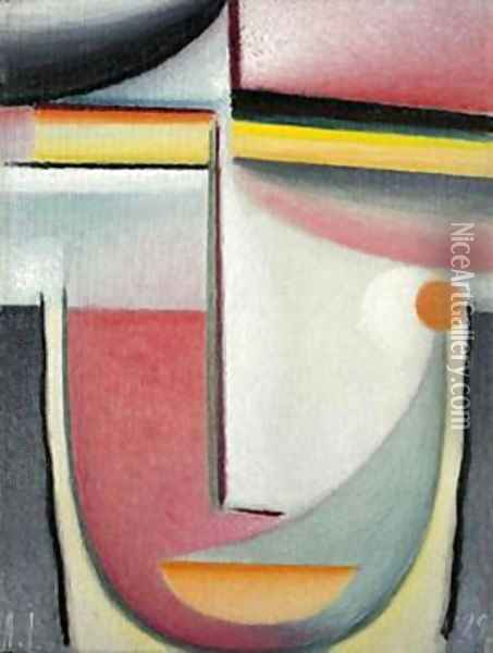Symphony in Pink Oil Painting - Alexei Jawlensky