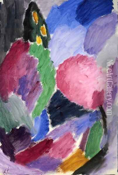 Large Variation: A Blowing Gale Oil Painting - Alexei Jawlensky