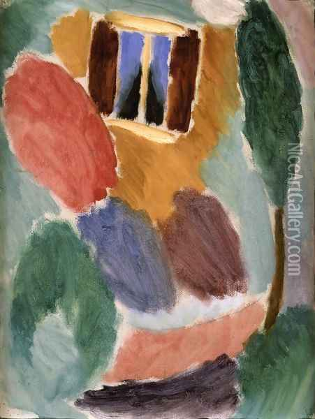 Variation: Studio Window Oil Painting - Alexei Jawlensky