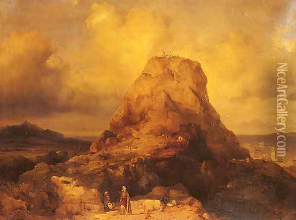 Landscape In Rhodes Oil Painting - Jacob Jacobs