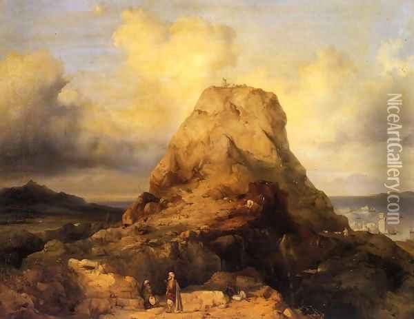 Landscape in Rhodes Oil Painting - Jacobus Jacobs
