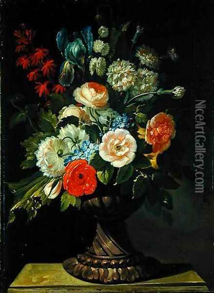 Still Life with Flowers 2 Oil Painting - Jens Juel