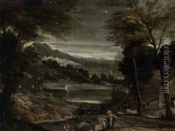 The Return From The Flight Into Egypt Oil Painting - Annibale Carracci