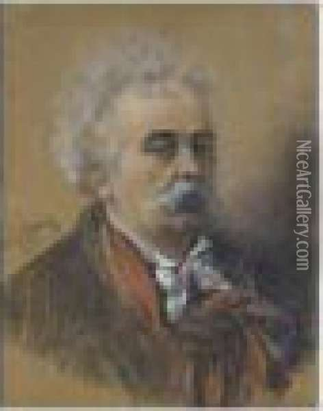 Portrait D'albert-ernest Carrier-belleuse Oil Painting - Pierre Carrier-Belleuse