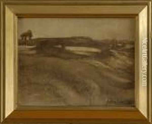 Landscape In Brown Oil Painting - Eugene Carriere