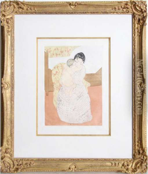 Mother And Child Oil Painting - Mary Cassatt