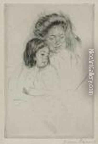 The Picture Book Oil Painting - Mary Cassatt