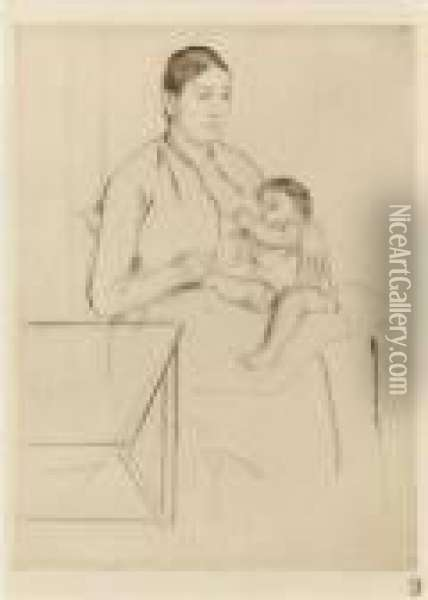 Nursing Oil Painting - Mary Cassatt