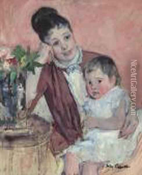 Madame H. De Fleury And Her Child Oil Painting - Mary Cassatt