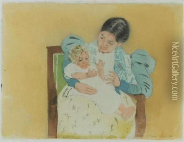 The Barefooted Child (b. 160; M. & S. 22) Oil Painting - Mary Cassatt