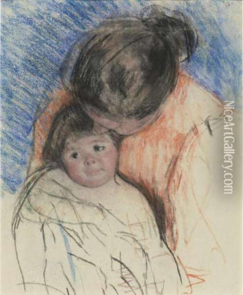 Mother Looking Down At Thomas Oil Painting - Mary Cassatt