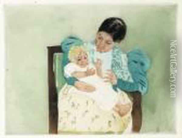 The Barefooted Child Oil Painting - Mary Cassatt