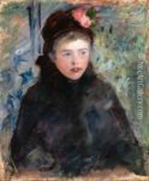 Susan In A Toque Trimmed With Two Roses Oil Painting - Mary Cassatt