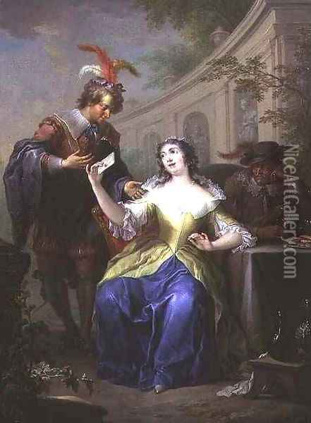 Allegories of Unequal Love 2 Oil Painting - Frans Christoph Janneck