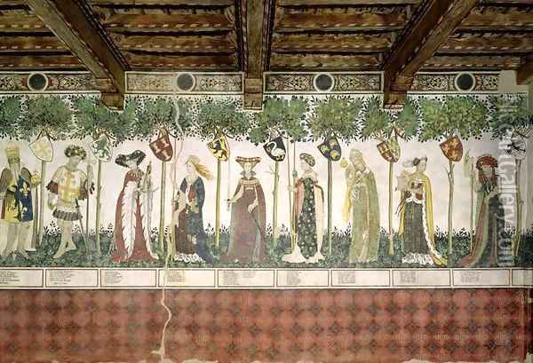 The Nine Worthies and the Nine Worthy Women 5 Oil Painting - Giacomo Jaquerio