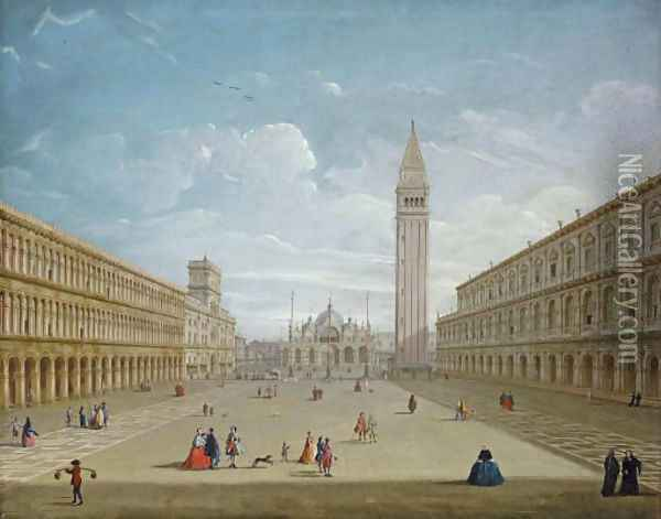 The Piazza San Marco, Venice, looking East Oil Painting - Antonio Joli