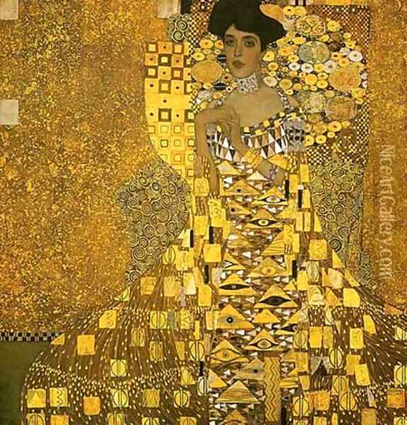 Portrait Of Adele Bloch Bauer I Oil Painting - Gustav Klimt