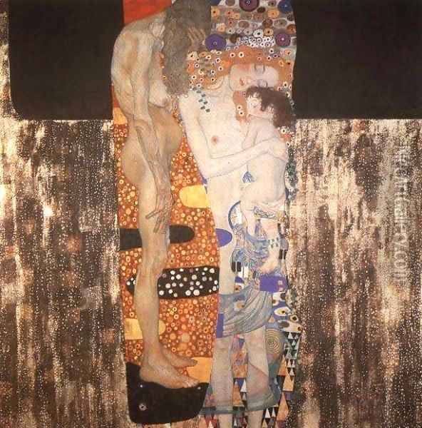 The Three Ages Of Woman Oil Painting - Gustav Klimt