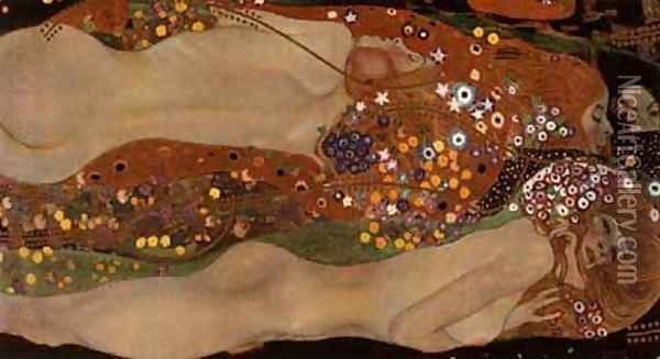 Water Serpents II Oil Painting - Gustav Klimt