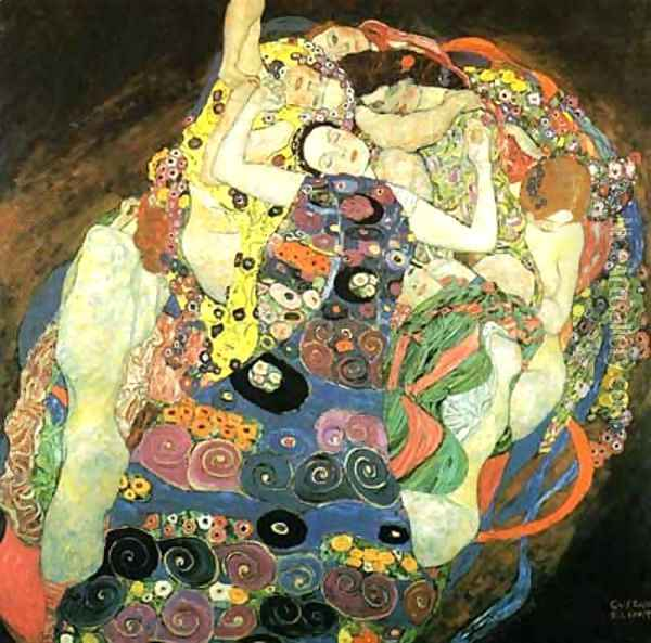 The Maiden Oil Painting - Gustav Klimt