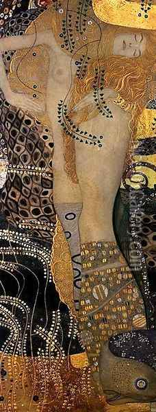 Water Serpents I Oil Painting - Gustav Klimt