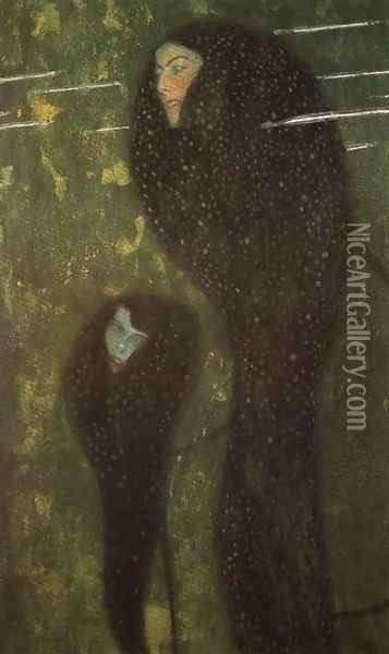 Mermaids (Whitefish) Oil Painting - Gustav Klimt