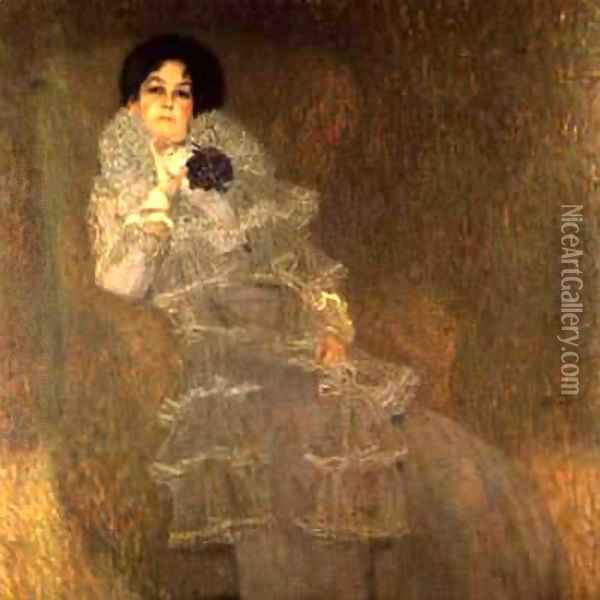 Portrait Of Marie Henneberg Oil Painting - Gustav Klimt