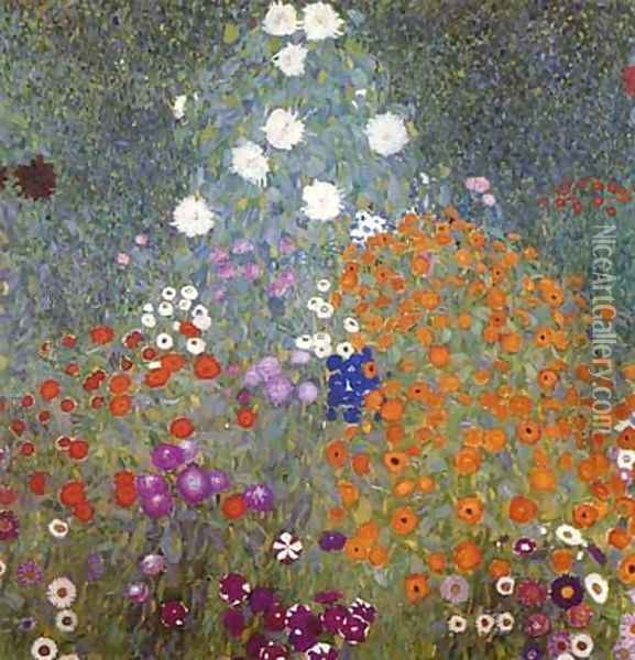 Farm Garden Oil Painting - Gustav Klimt