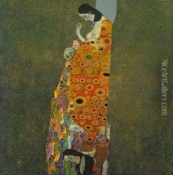 Hope II Oil Painting - Gustav Klimt