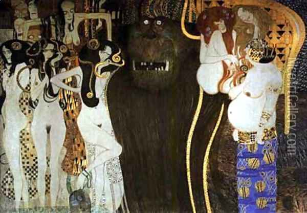 The Hostile Powers Oil Painting - Gustav Klimt