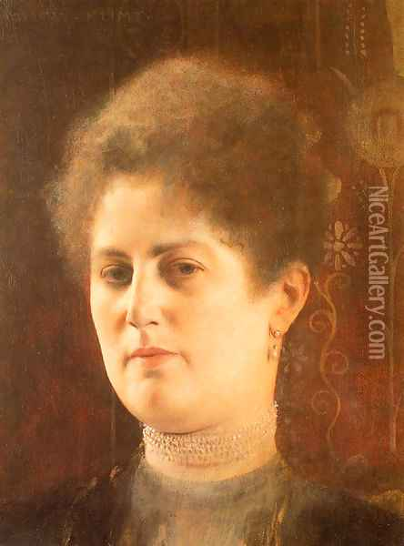 Portrait of a Lady Oil Painting - Gustav Klimt