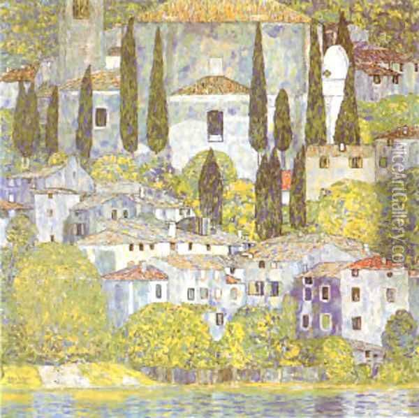 The Church at Cassone Sul Garda Oil Painting - Gustav Klimt
