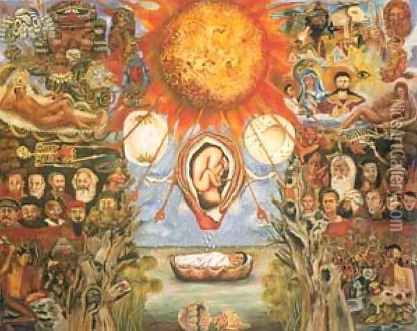 Moses Nucleus Of Creation Oil Painting - Frida Kahlo