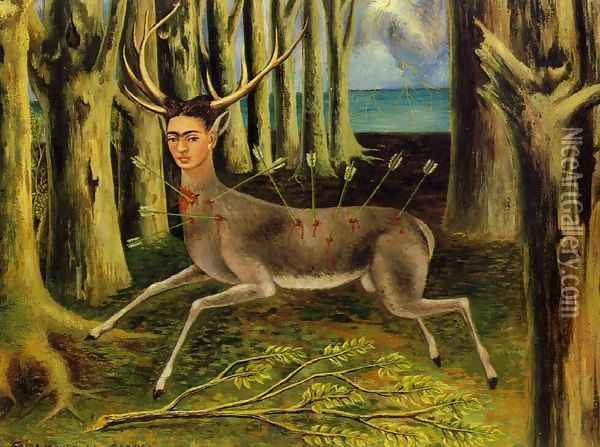 The Little Deer Oil Painting - Frida Kahlo