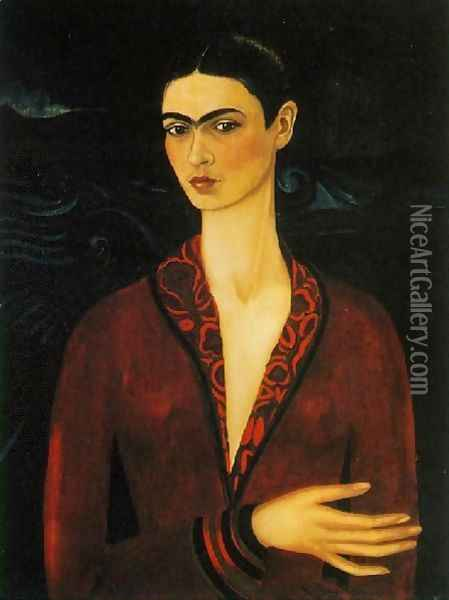 Self Portrait 1926 Oil Painting - Frida Kahlo
