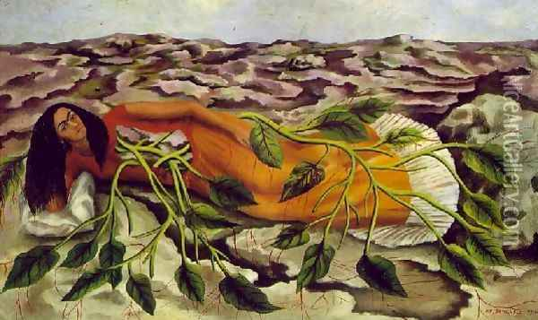 Roots Raices Oil Painting - Frida Kahlo