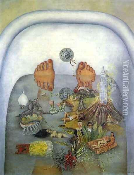 What The Water Gave Me Oil Painting - Frida Kahlo