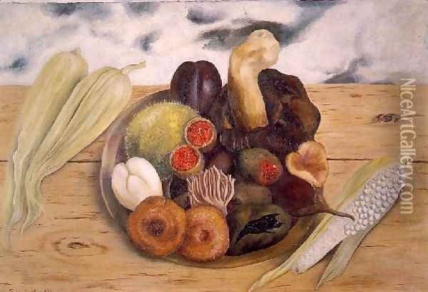 Fruits Of The Earth Oil Painting - Frida Kahlo