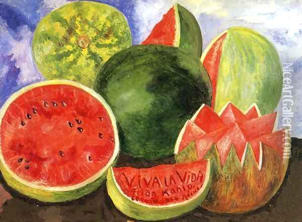 Viva la Vida, 1954 Oil Painting - Frida Kahlo