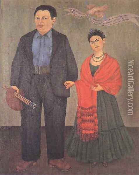 Frida and Diego Oil Painting - Frida Kahlo
