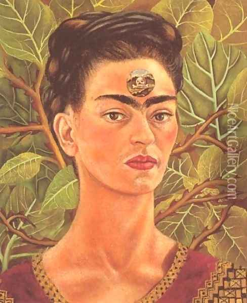 Thinking About Death Oil Painting - Frida Kahlo