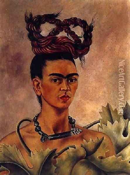 Self Portrait 1941 2 Oil Painting - Frida Kahlo