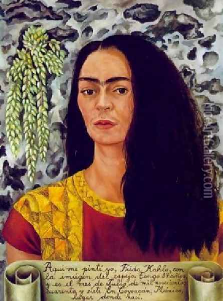 Self Portrait With Loose Hair Oil Painting - Frida Kahlo