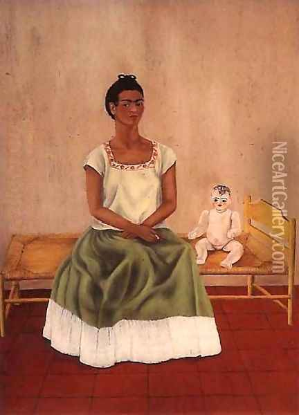 Self Portrait On Bed Oil Painting - Frida Kahlo