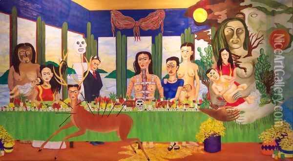 The Last Supper Oil Painting - Frida Kahlo