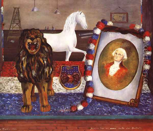 Window Display In A Street In Detroit 1931 Oil Painting - Frida Kahlo