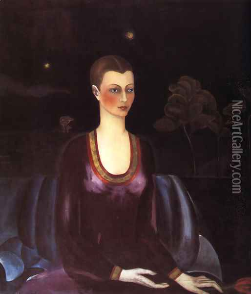 Portrait Of Alicia Galant 1927 Oil Painting - Frida Kahlo
